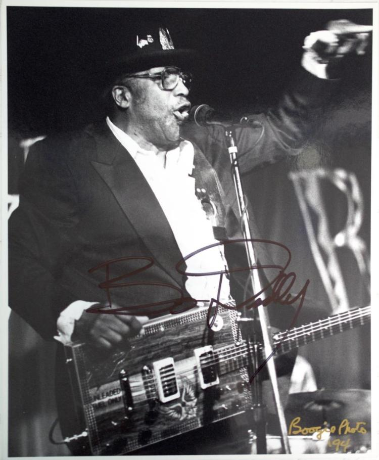 Autographed Bo Diddley Photo