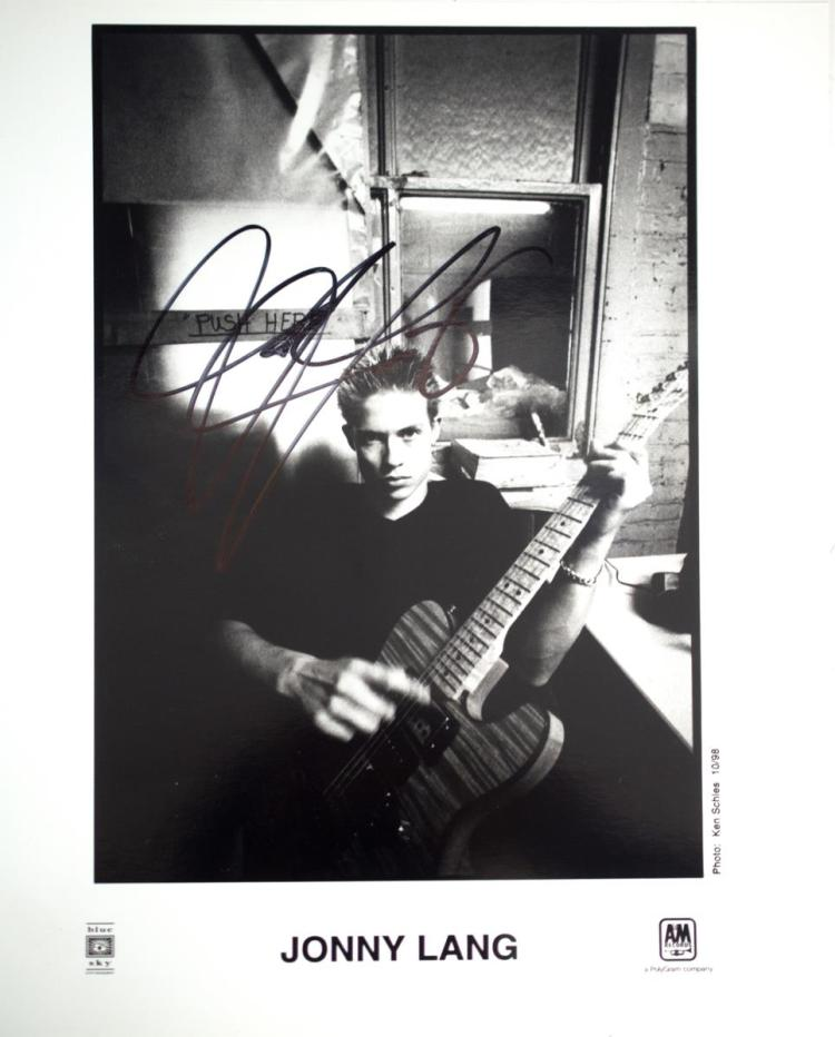 Autographed Jonny Lang Photo