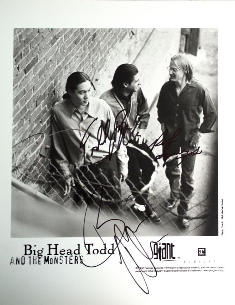 Autographed Big Head Todd Photo