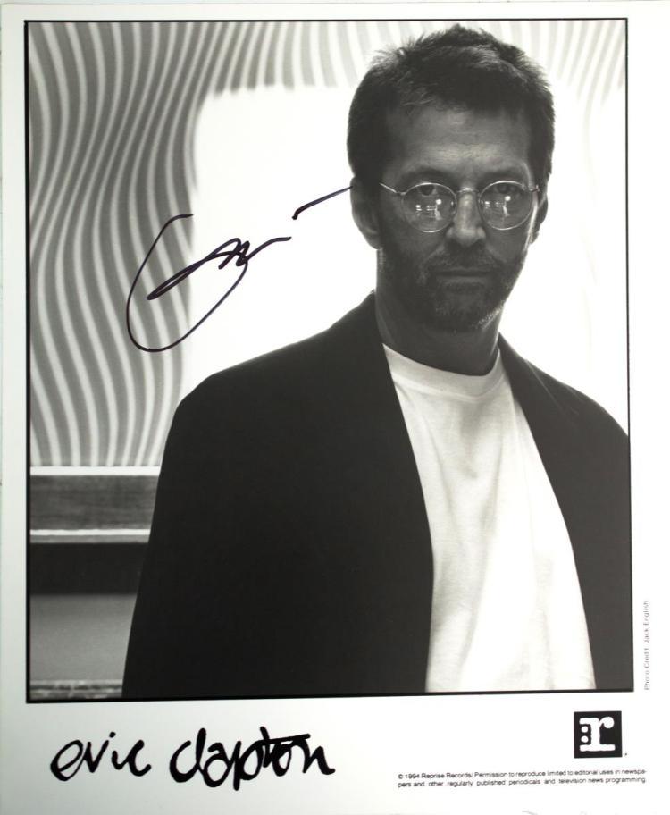 Autographed Eric Clapton Photo