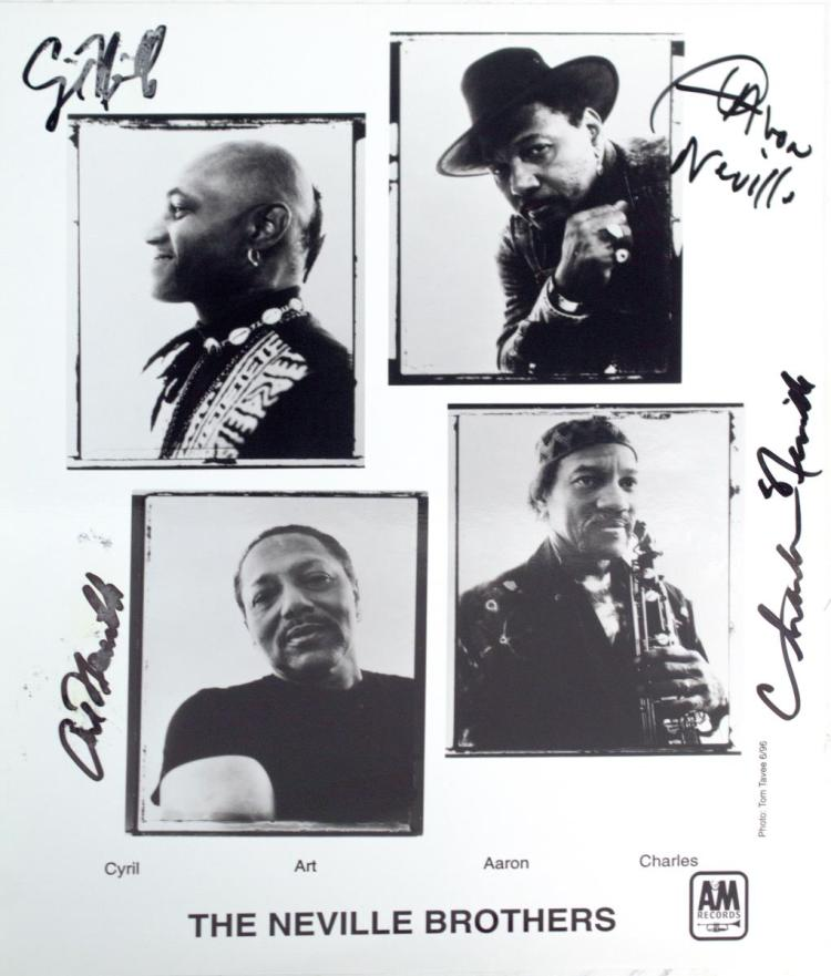 Autographed The Neville Brothers Photo