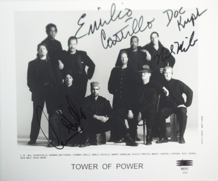 Autographed Tower Of Power Photo
