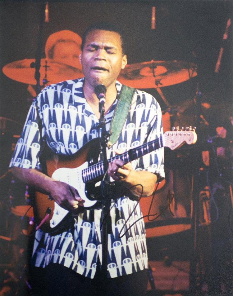 Autographed Robert Cray Live Photo
