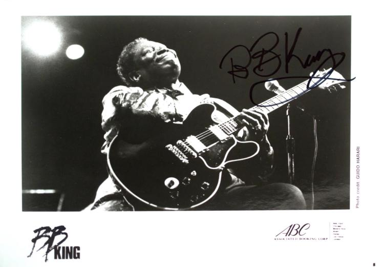 Autographed BB King Photo