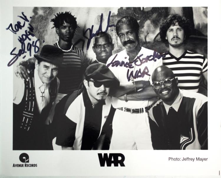 Autographed WAR Photo