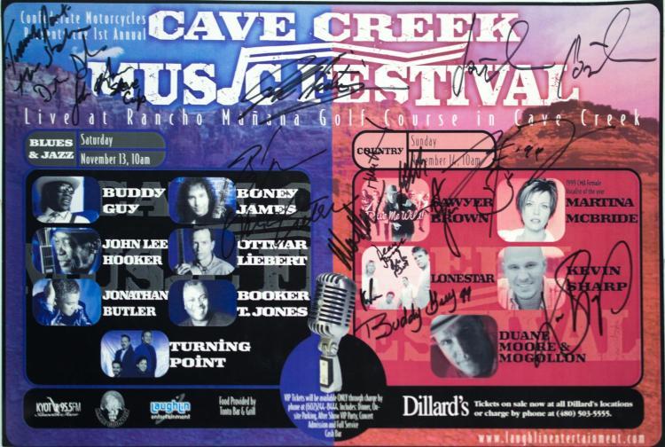 Autographed Cave Creek Music Fest Poster