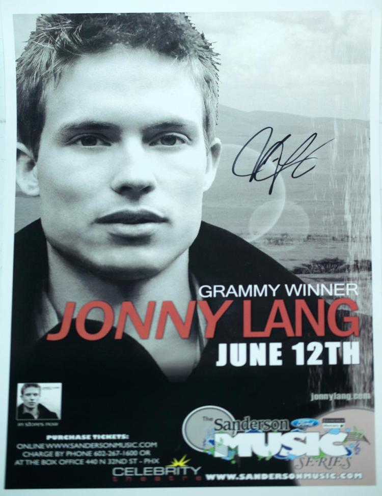 Autographed Jonny Lang Poster