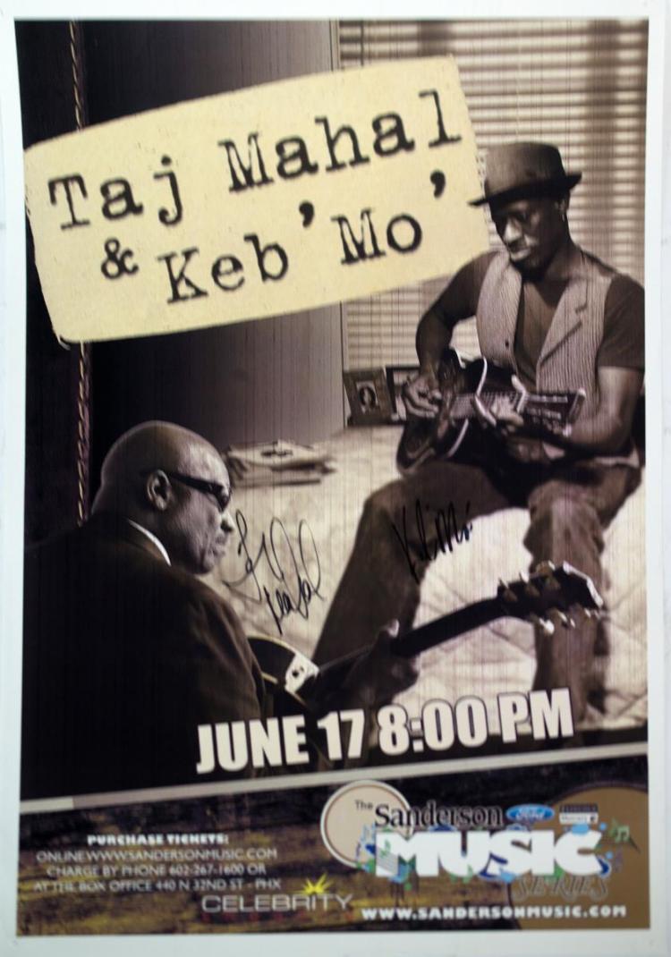 Autographed Taj Mahal & Keb' Mo' Poster