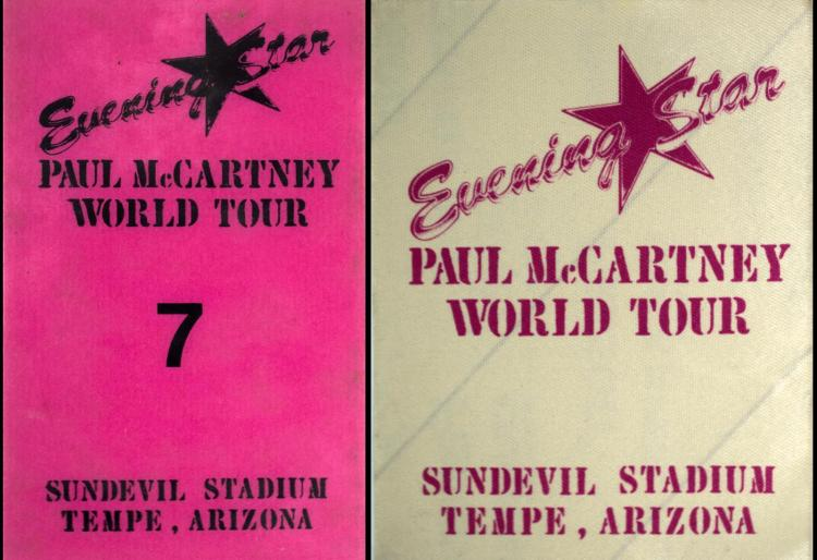 Paul McCartney World Tour 1990 Crew & All Access Pass