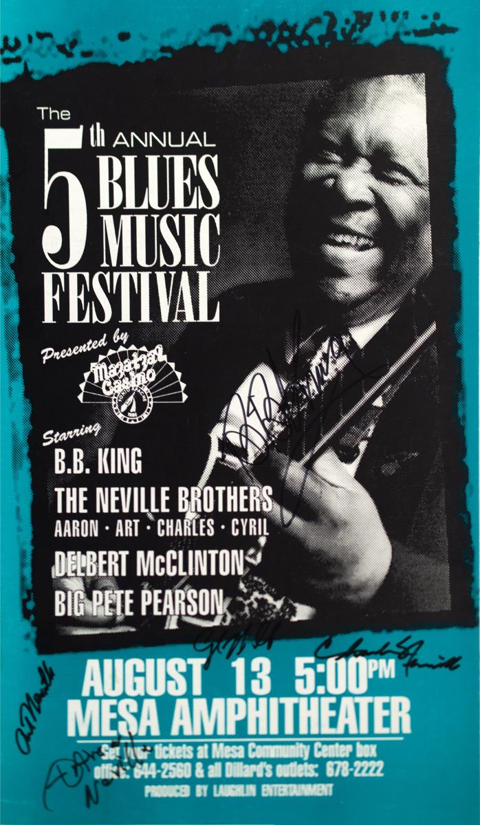Autographed BB King Blues Fest Poster