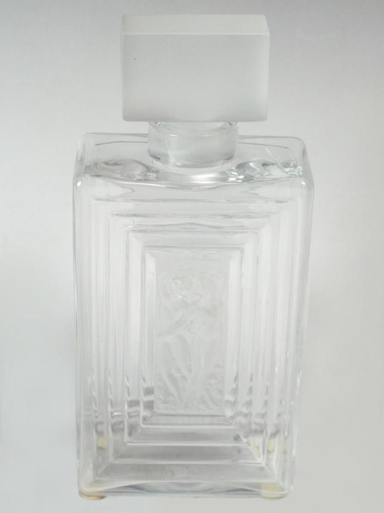 Lalique Crystal Duncan No.3 Perfume Bottle