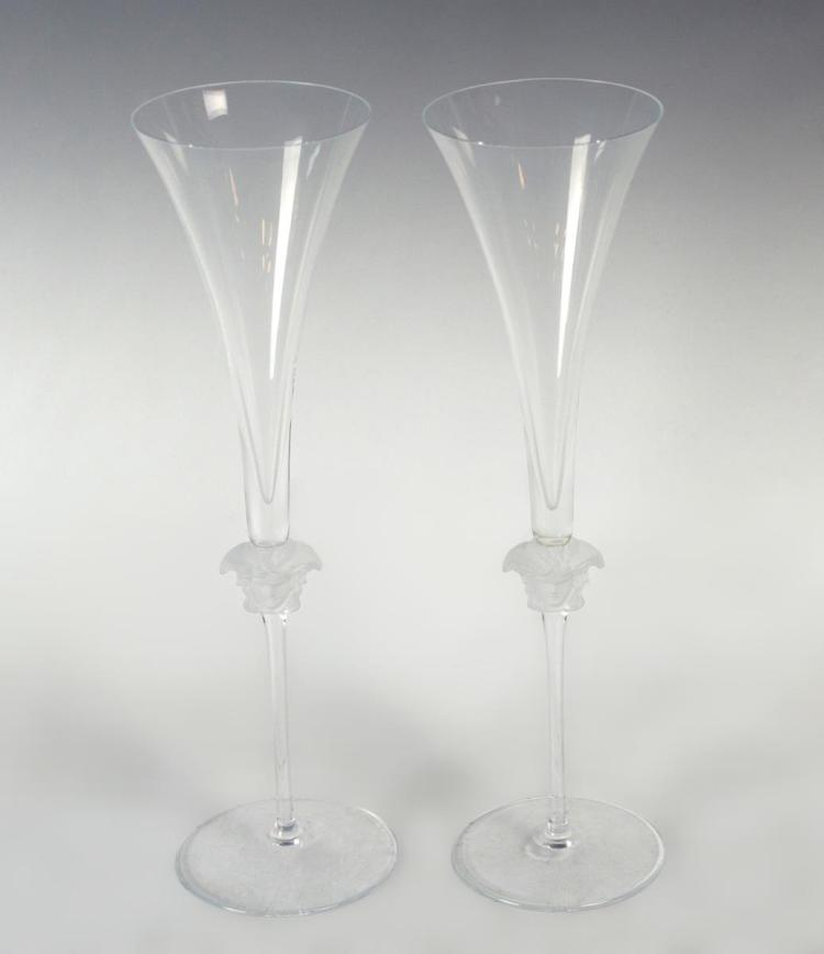Versace by Rosenthal Champagne Medusa Glasses