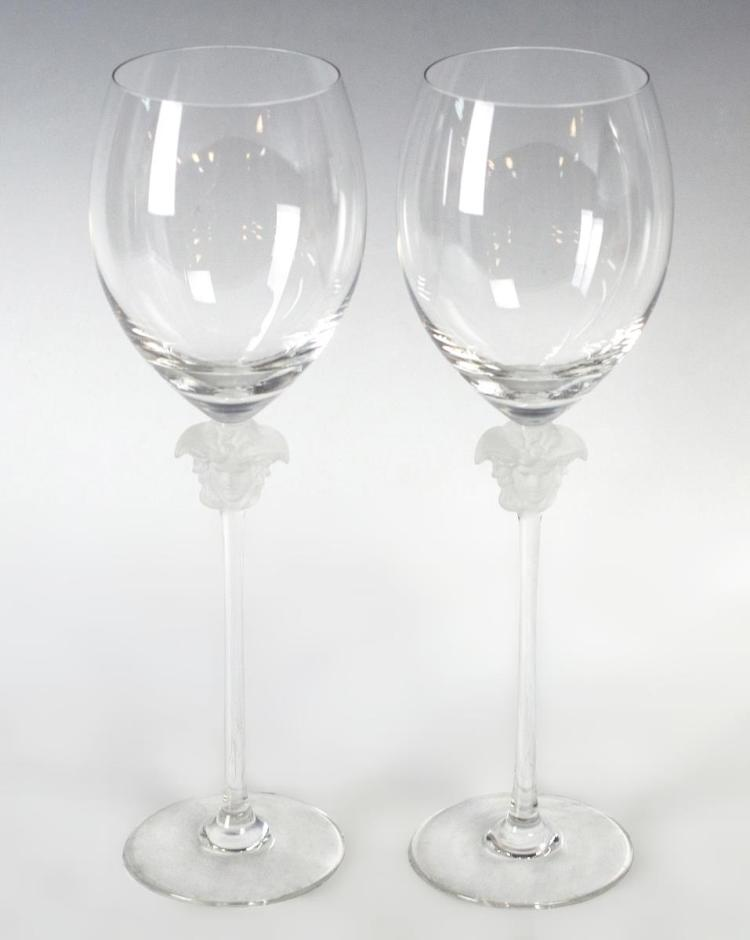 Versace by Rosenthal Wine Medusa Glasses