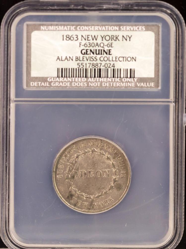 Civil War Token 1863 NEW YORK F-630AQ-6E