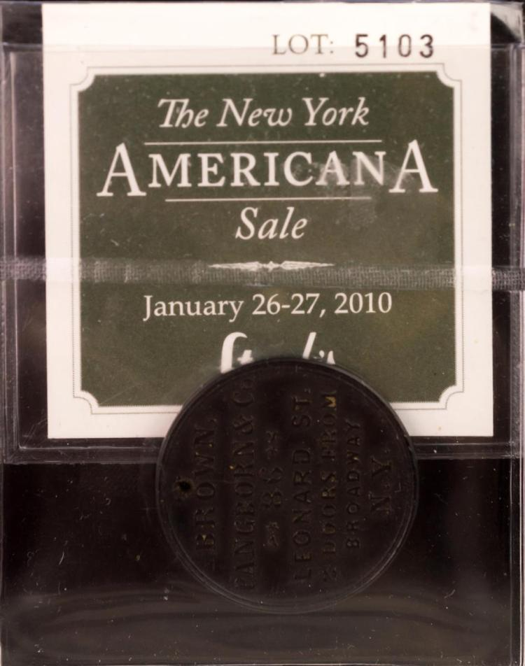 Civil War Token New York Brown, Pangborn & Co.