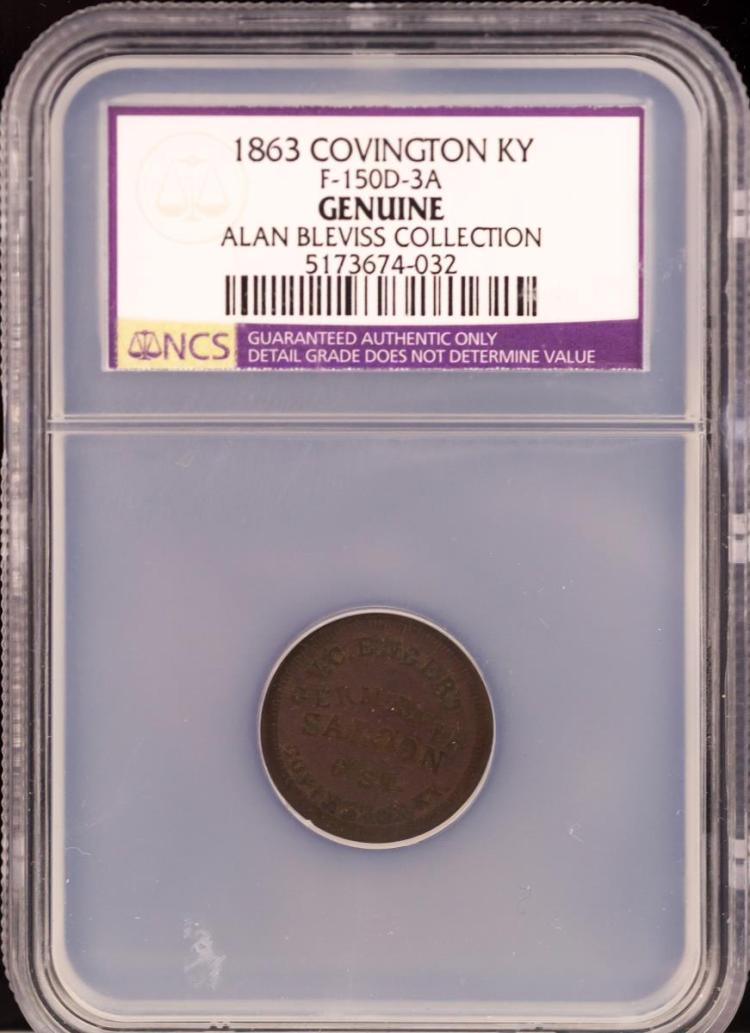 Civil War Token 1863 COVINGTON F-150D-3A