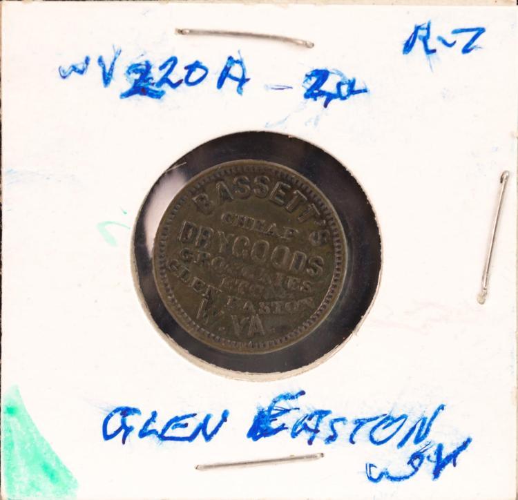 Civil War Token 1863 Glen Easton W. VA. Bassett's