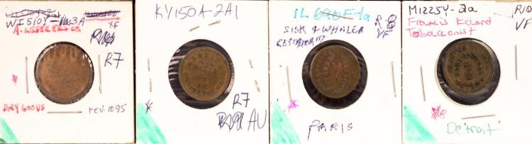 Civil War Token 1863 Francis Eccard Tobacconist