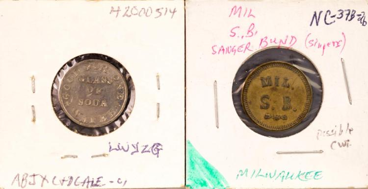 Civil War Token Mil. S.B. & C.H. Needles