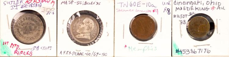 Civil War Token 1863 Miedeking N.E. Cor