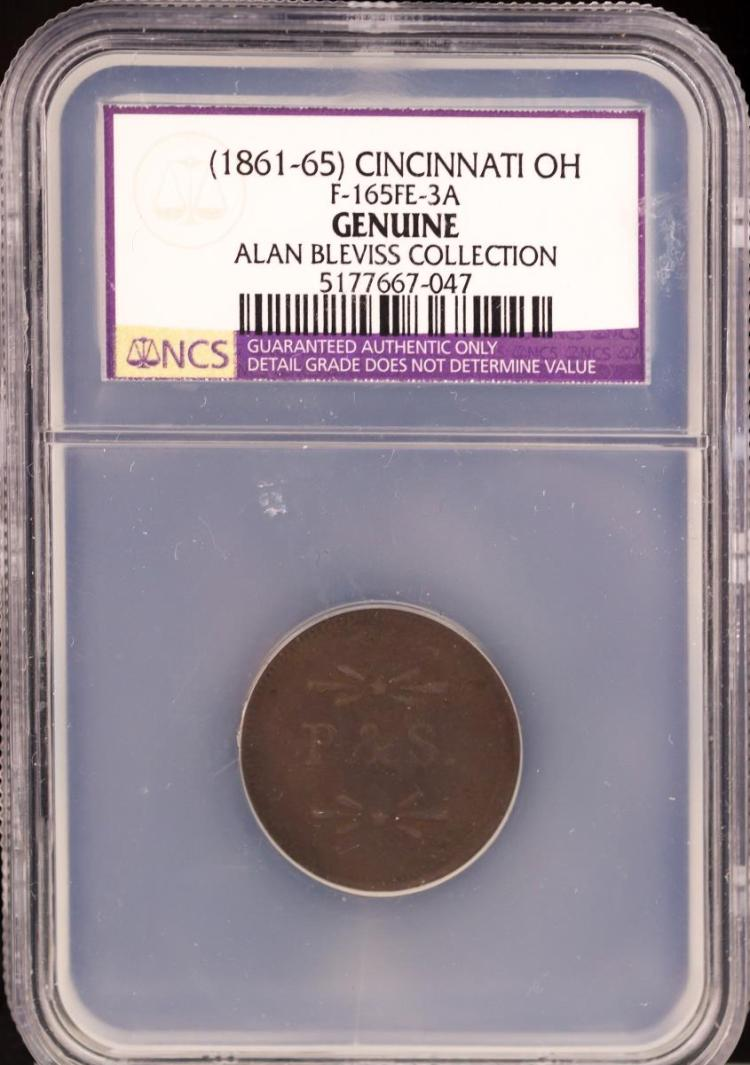 Civil War Token (1861-65) CINCINNATI F-165FE-3A