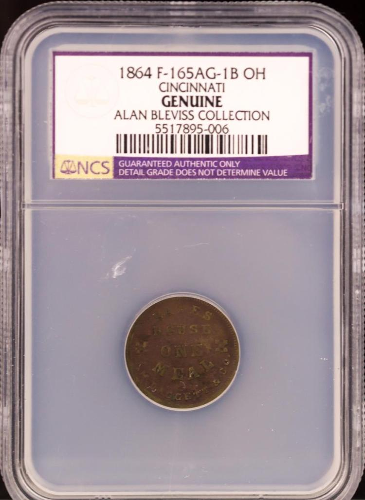 Civil War Token 1864 F-165AG-1B CINCINNATI