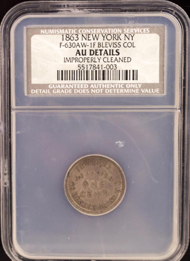 Civil War Token 1863 NEW YORK F-630AW-1F