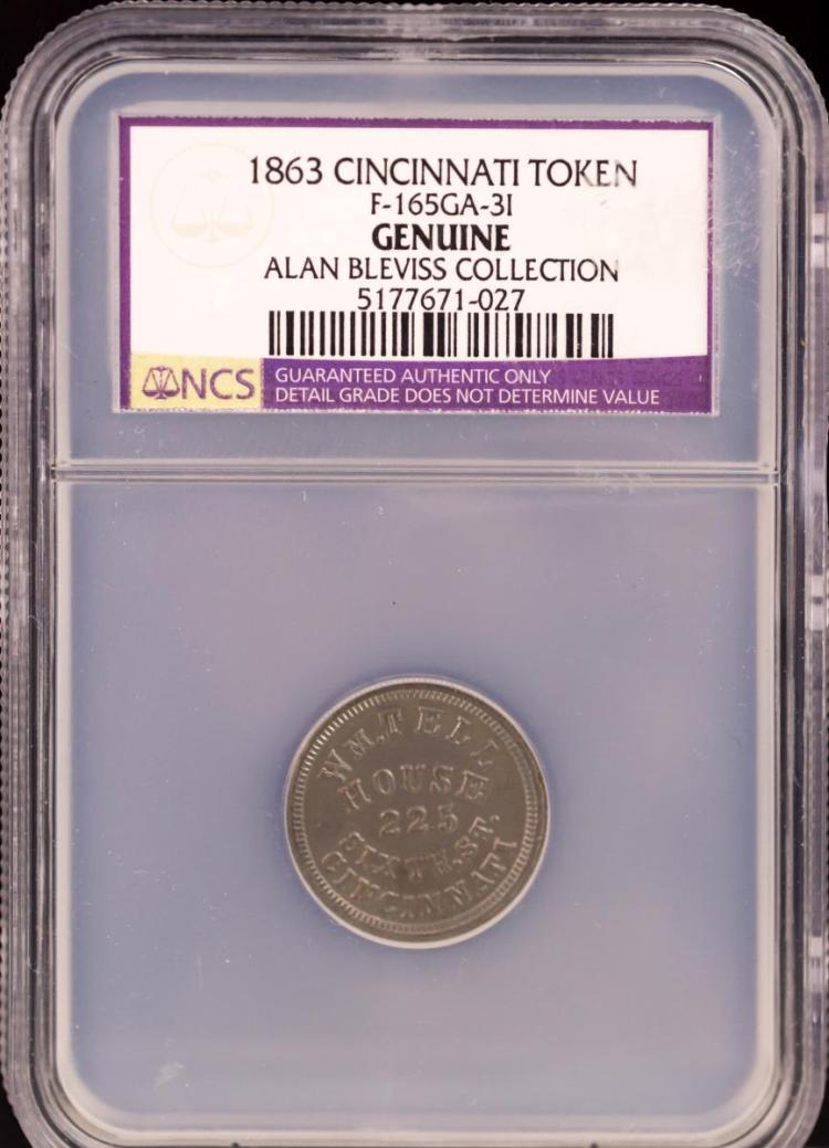 Civil War Token 1863 CINCINNATI F-165GA-3I