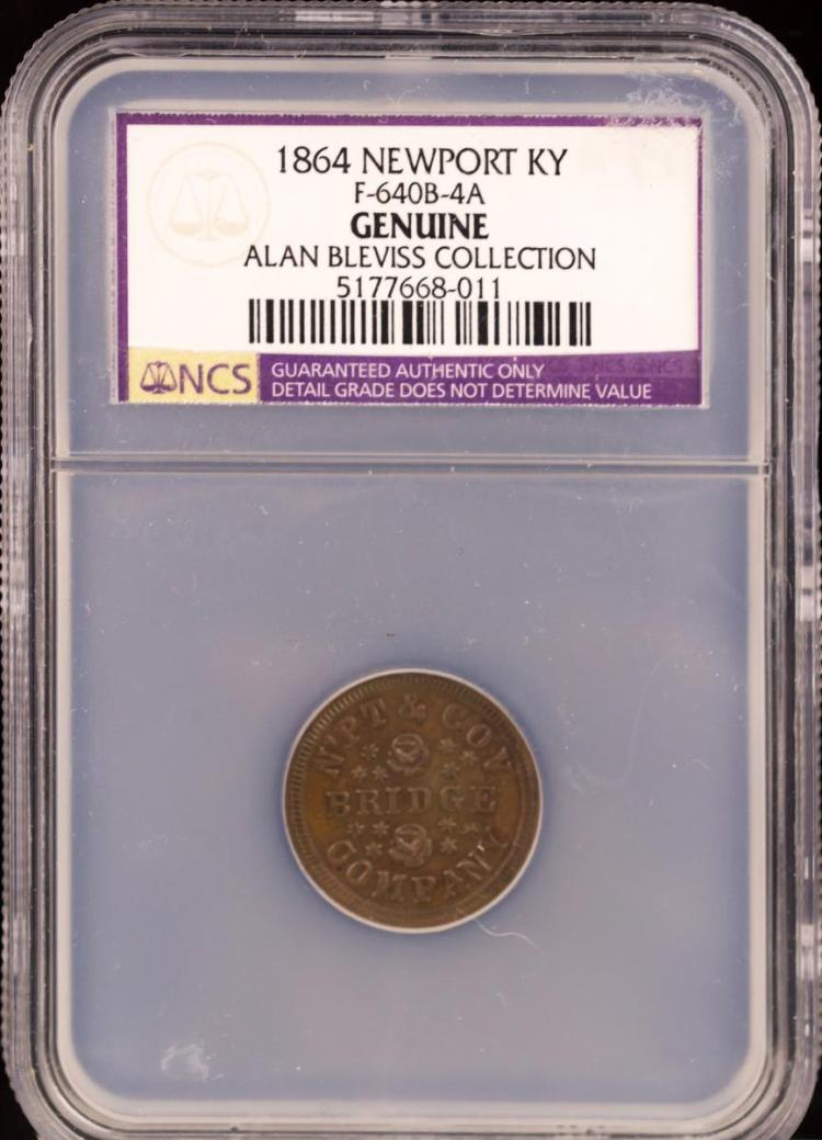Civil War Token 1864 NEWPORT F-640B-4A
