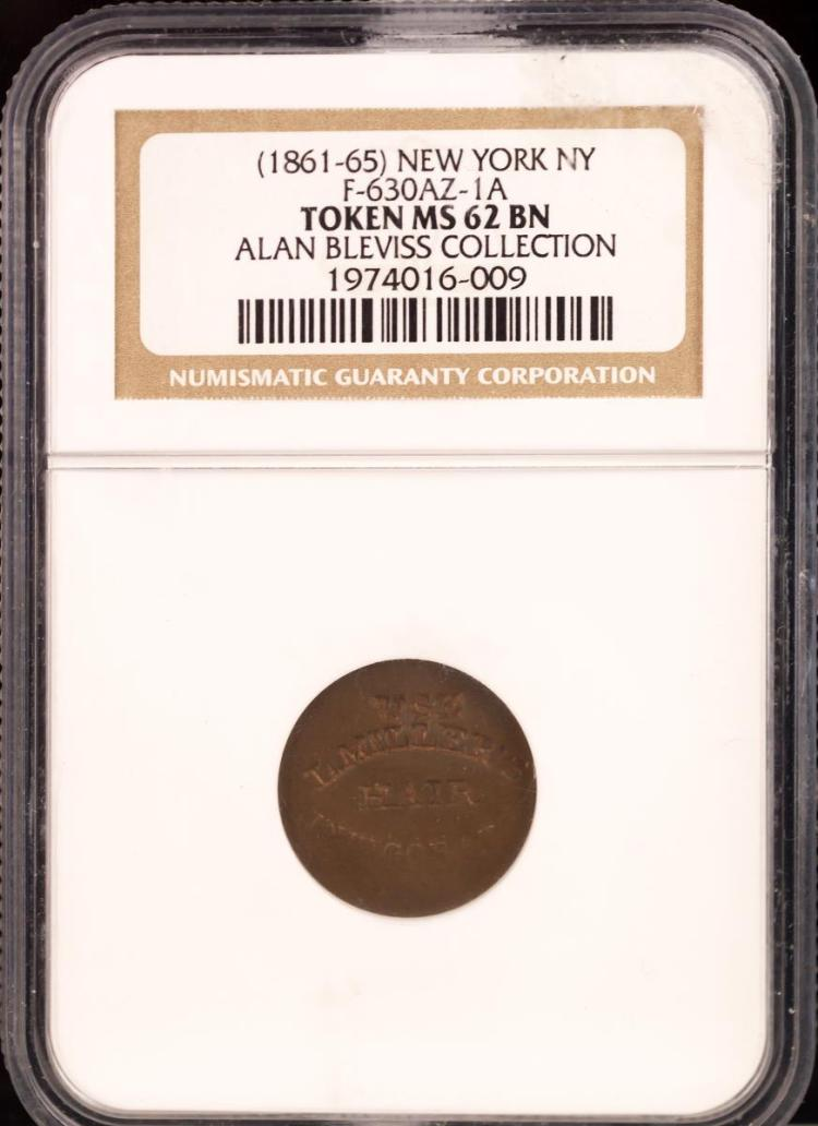 Civil War Token (1861-65) NEW YORK F-630AZ-1A
