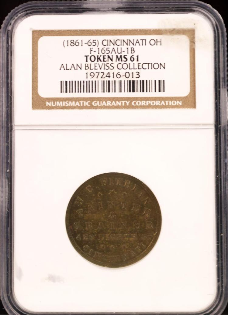 Civil War Token (1861-65) CINCINNATI F-165AU-1B