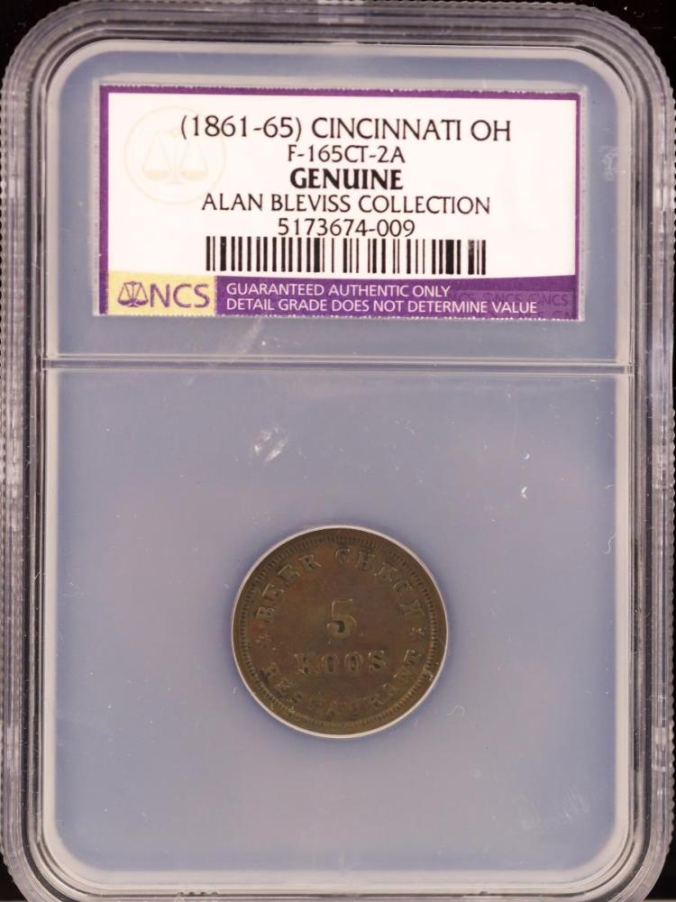 Civil War Token (1861-65) CINCINNATI F-165CT-2A
