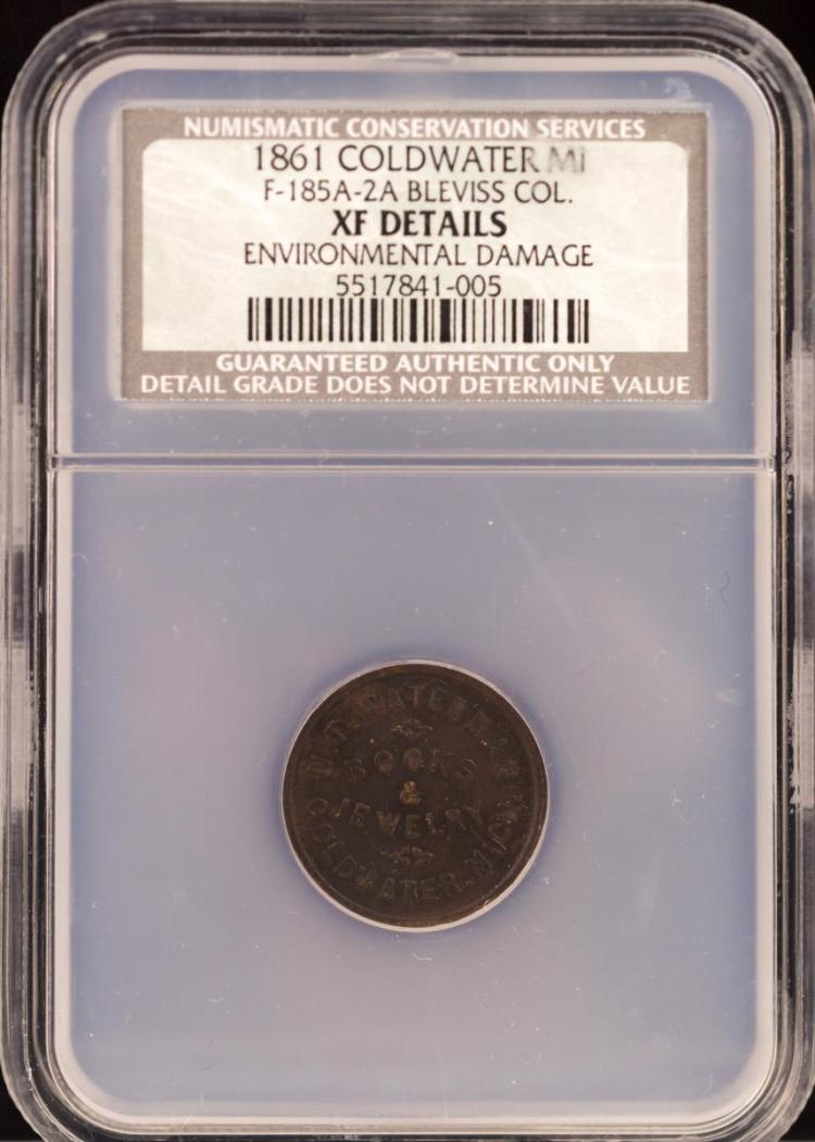 Civil War Token 1861 COLDWATER F-185A-2A