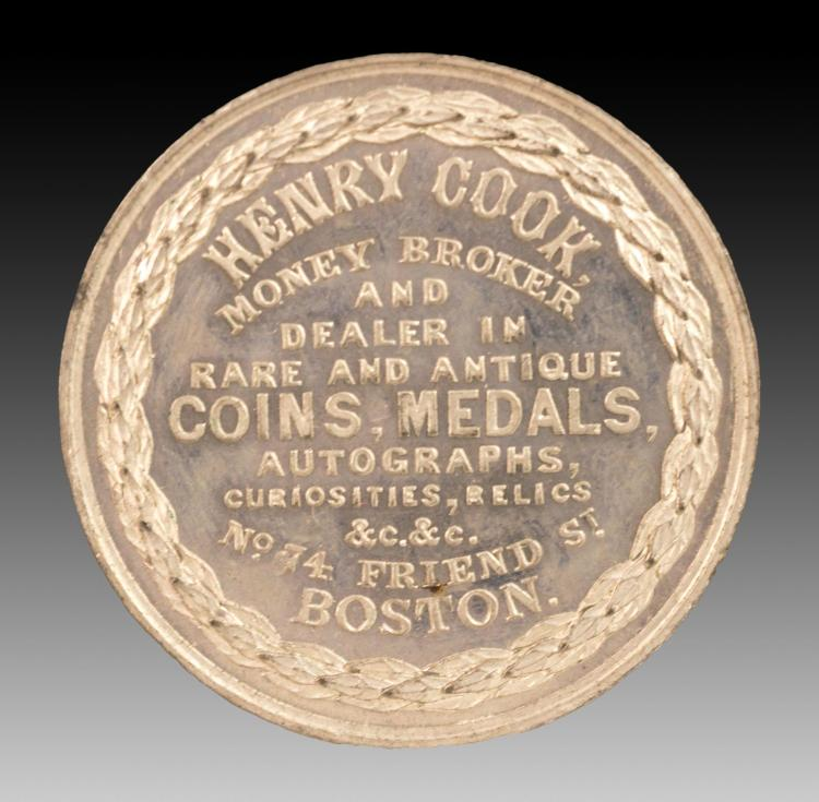 Civil War Token (1861-62) R-Ma-BO-19A Henry Cook
