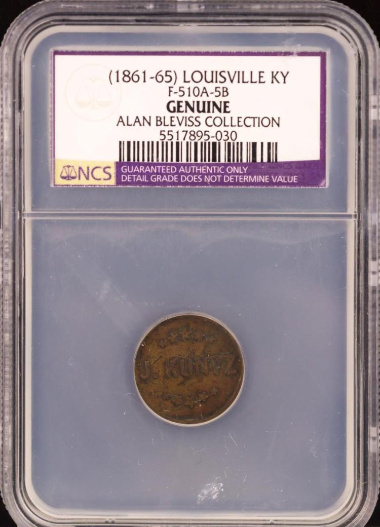 Civil War Token (1861-65) LOUISVILLE F-510A-5B