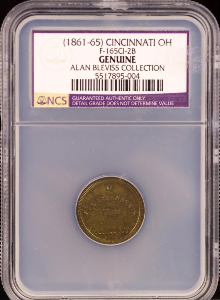 Civil War Token (1861-65) CINCINNATI F-165CI-2B