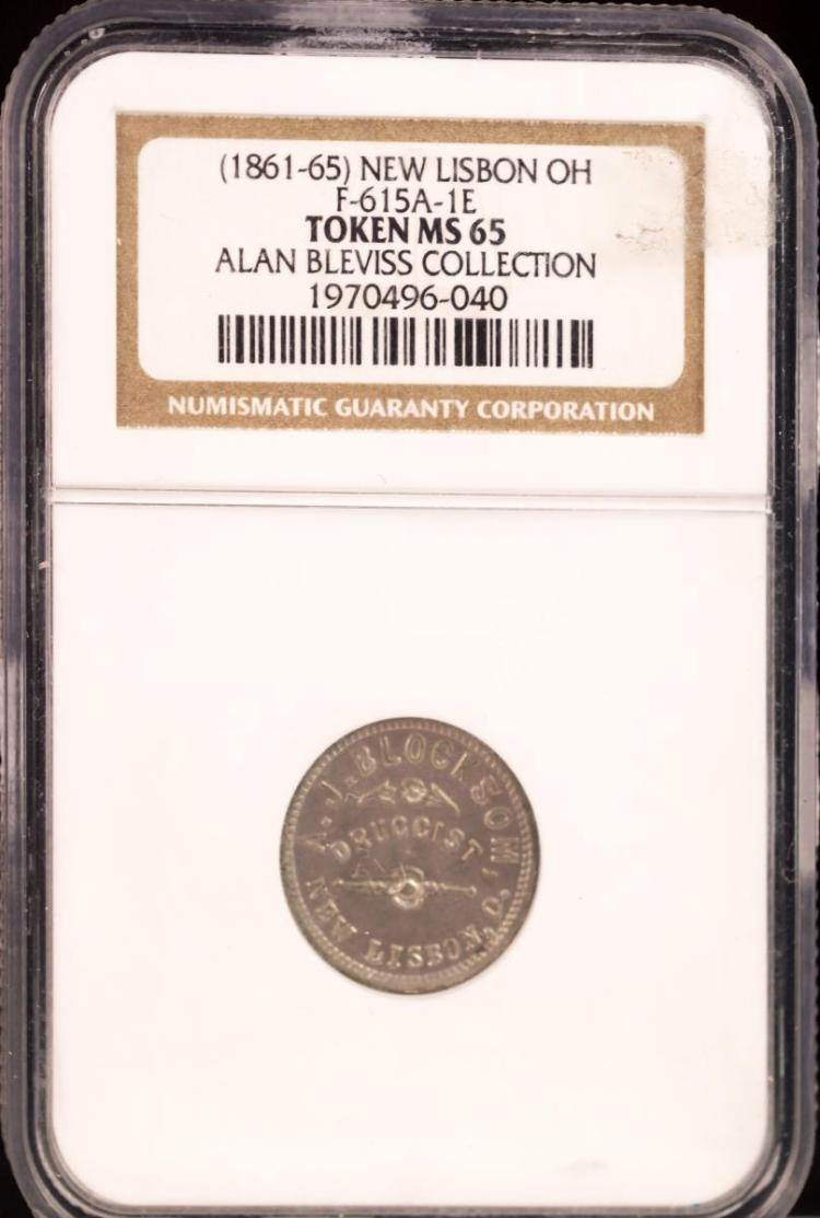 Civil War Token (1861-65) NEW LISBON F-615A-1E