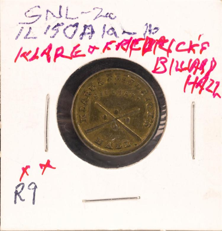 Civil War Token 1863 Union Klare & Friedrick's