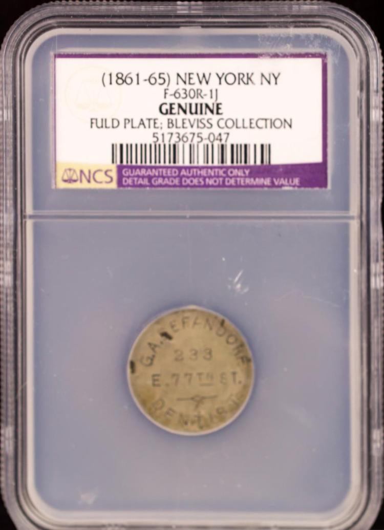 Civil War Token (1861-65) NEW YORK F-630R-1J