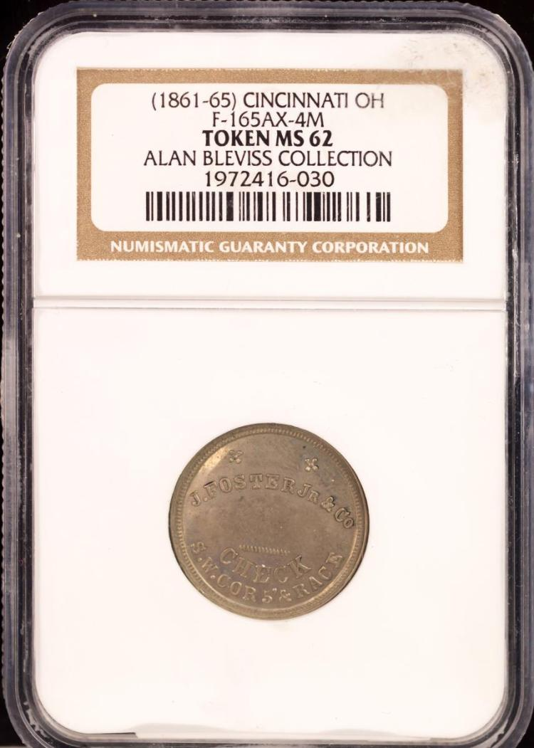 Civil War Token (1861-65) CINCINNATI F-165AX-4M