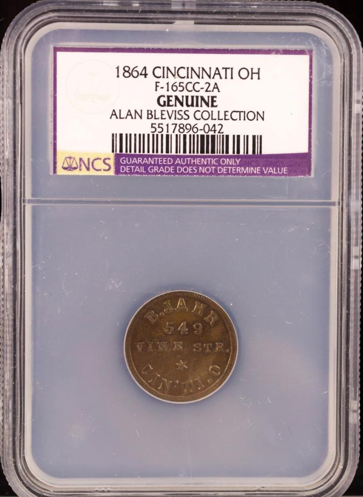 Civil War Token 1864 CINCINNATI F-165CC-2A