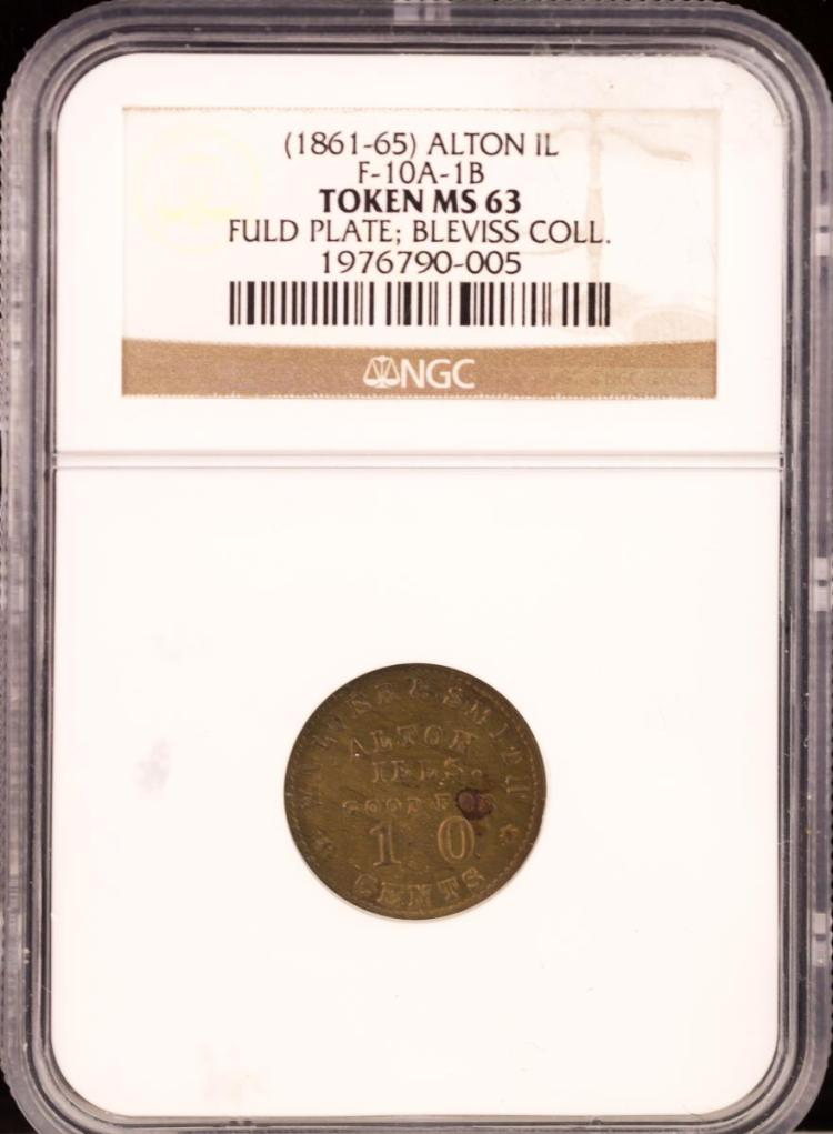 Civil War Token (1861-65) ALTON F-10A-1B