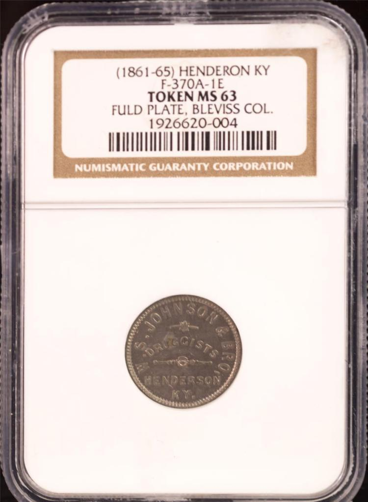 Civil War Token (1861-65) HENDERSON F-370A-1e