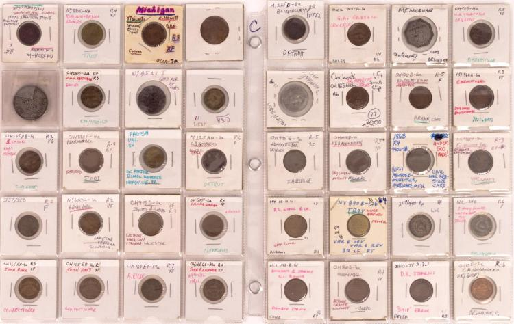 40 Pc. Ohio & New York Civil War Token Lot
