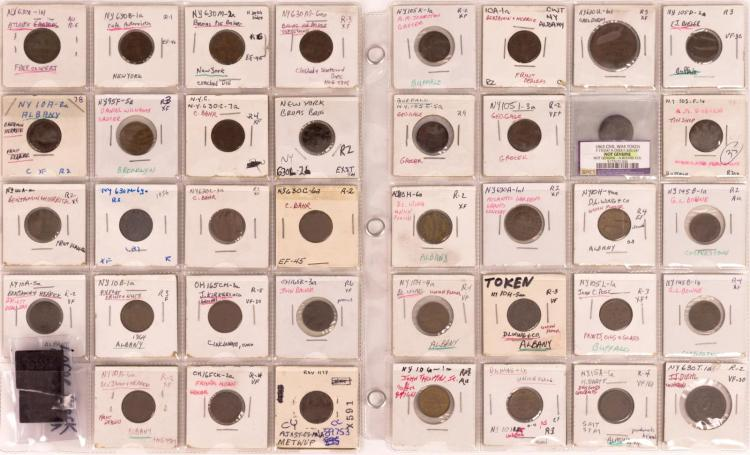 40 Pc. New York & Ohio Civil War Token Lot