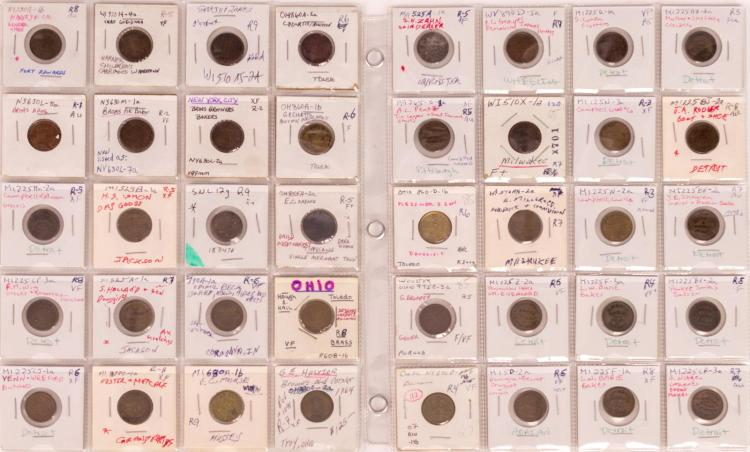 40 Pc. Pennsylvania & New York Civil War Token Lot