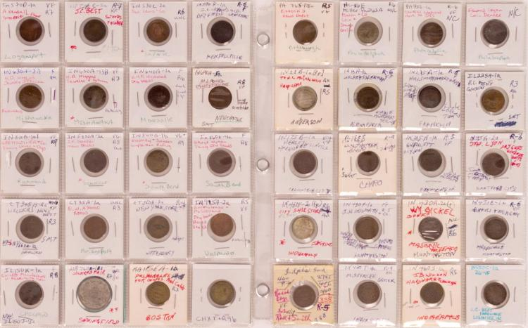 40 Pc. Indiana & Pennsylvania Civil War Token Lot