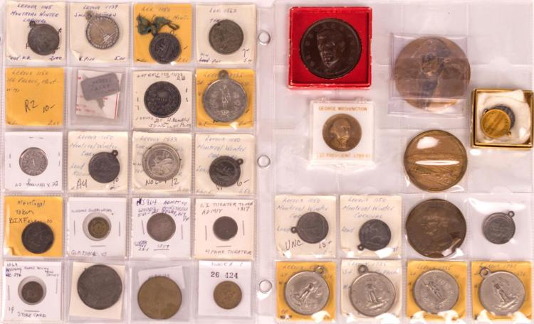 33 Pc. Alaska & New Jersey Civil War Token Lot