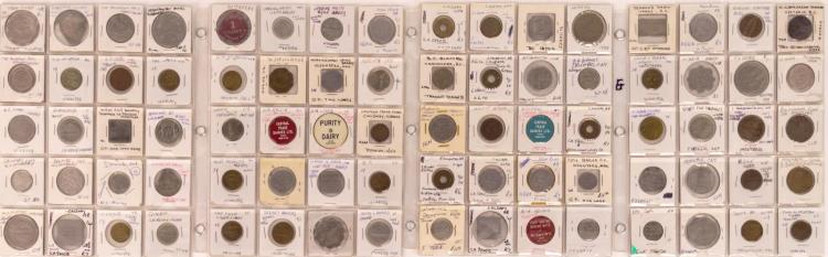 80 Pc. 19th/20th C. Canadian Token Lot