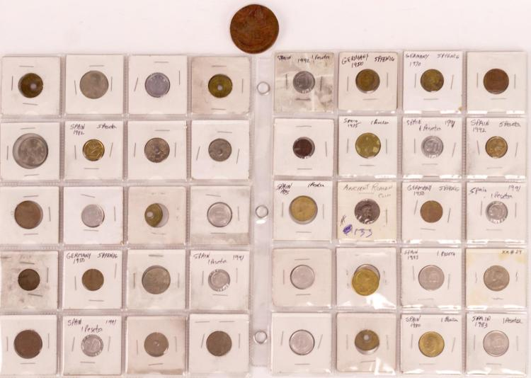42 Pc. Spain & Germany World Coin Lot